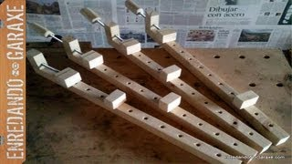 Como hacer sargentos de madera. How to make wooden bar clamps.