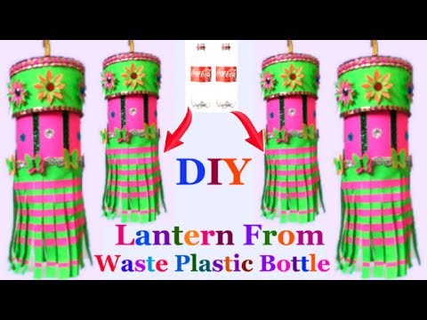 How to make lantern/akash kandil from plastic bottle | DIY diwali decorations ideas