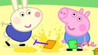 Peppa Pig en Español Episodios completos   ¡El amigo de George Richard Rabbit!   Dibujos Animados