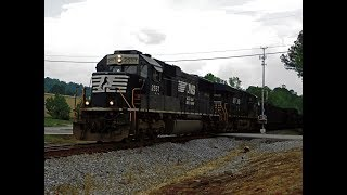 Chasing an NS SD70 leading a SLOW NS 809 w CRYING K5LA! AGS North 5-24-18