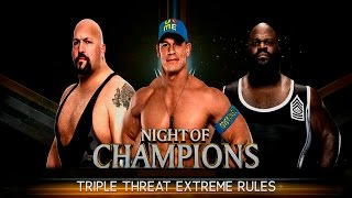 WWE 2K16 - John Cena vs Big Show vs Mark Henry [EXTREME RULES] [1080p]