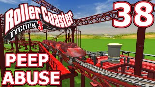 Peep Abuse (RollerCoaster Tycoon 3) - Part 38 - Riding the Giga Coaster!