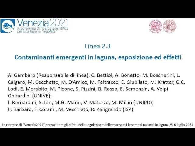 Contaminanti emergenti in laguna, esposizione ed effetti