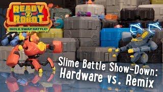 Ready2Robot | Slime Battle Show-Down: Hardware vs. Remix | Official Action Figure Videos