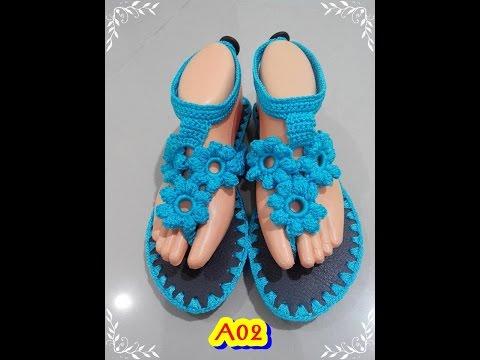 สอนถักรองเท้า   A02 โดย ร้าน ร้อยรักษ์ งานฝีมือ  คลิปที่ 2