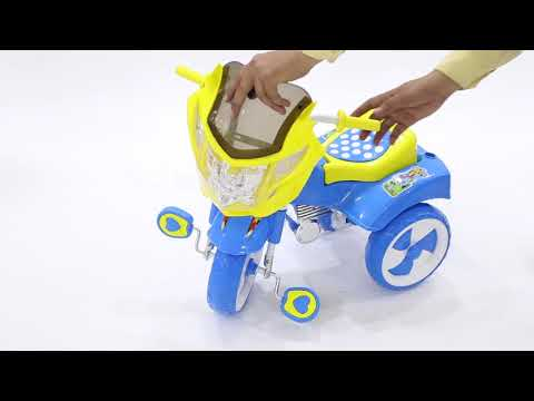 NHR Victor Kids Tricycle With Under Seat Storage Space, Lights And Music.