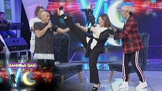 GGV: Sharon Cuneta shows how flexible her legs are