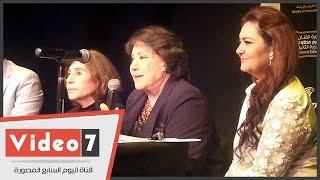 سميحة أيوب وسميرة محسن فى المؤتمر الصحفى لمهرجان شرم الشيخ للمسرح