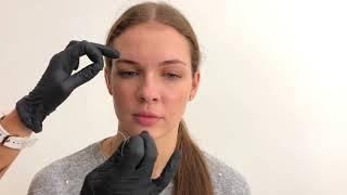Как отрисовать брови ниткой