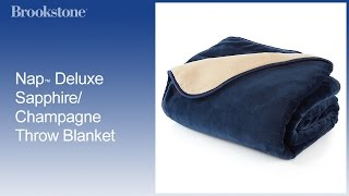 Nap™ Deluxe Sapphire/Champagne Throw Blanket