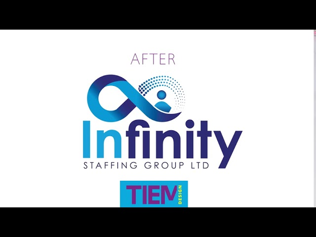 TIEM Infinity logo Before & after