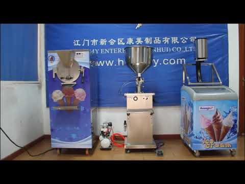 HM25 ice cream production line, one-shot ice cream machine production line