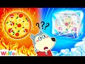 Gambar cover Wolfoo and Hot vs Cold Food Challenge with Lucy - Good Habits for Kids | Wolfoo Channel Kids Cartoon