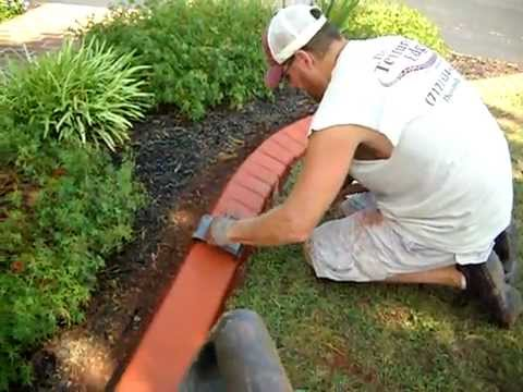 The Textured Edge Landscape Curbing Brick Stamp Avi Youtube