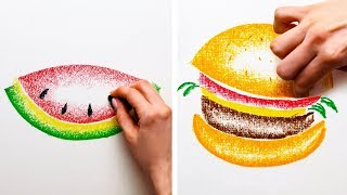 25 FUN AND SIMPLE DRAWING TECHNIQUES