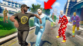 I GOT ATTACKED BY KILLER CLOWNS! | GTA 5 THUG LIFE #314