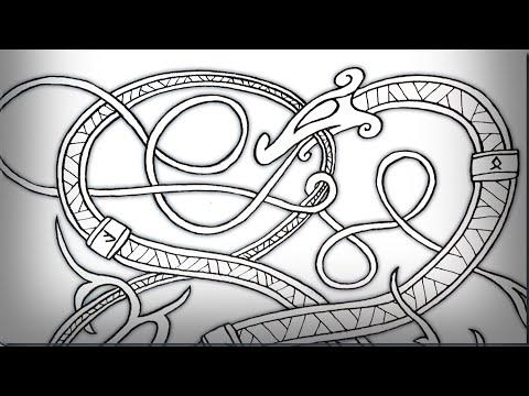 Viking Serpent Sketch - Tutorial / Time Lapse