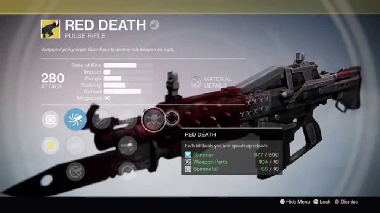 Destiny the taken king red death year one vs two comparison exotic