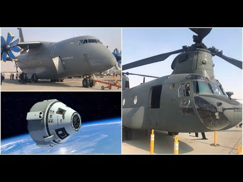 Inside the NASA Orion Spacecraft , Antonov An70 , Chinook Helicpoter - Dubai Airshow 2017