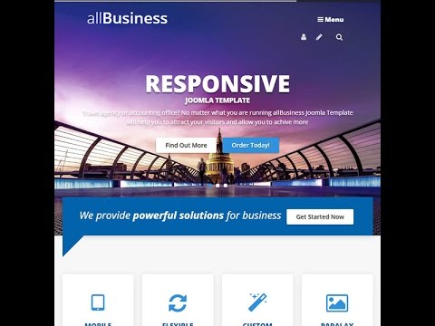 All business joomla template youtube all business joomla template flashek Gallery