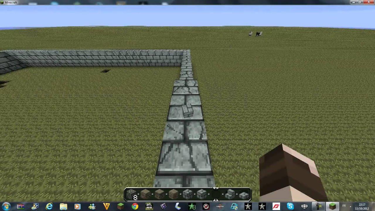 Minecraft construction du manoir hanté 1