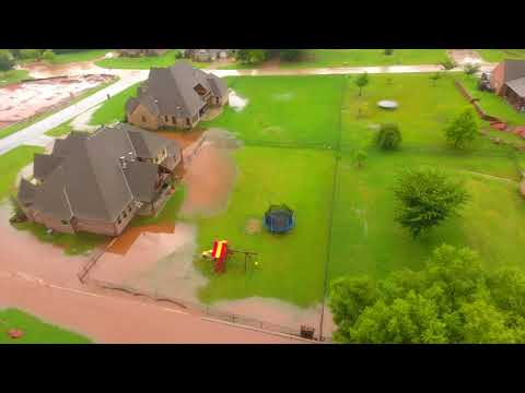 August 2017 Edmond Floods Captured with Drone