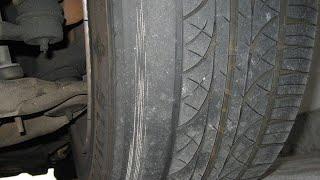 Проблемы эксплуатации резины №5 Съело бок или нет схождения колес(Проблемы эксплуатации резины №4 Съело бок или нет схождения колес.. Односторонний износ шин может быть..., 2014-11-18T15:21:57.000Z)