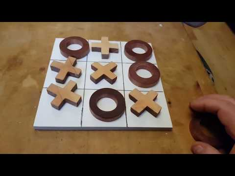 Making a Tic Tac Toe (Noughts and Crosses) game from scrap wood
