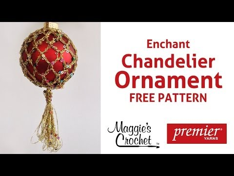 Enchant Christmas Ornament Free Crochet Pattern – Right Handed