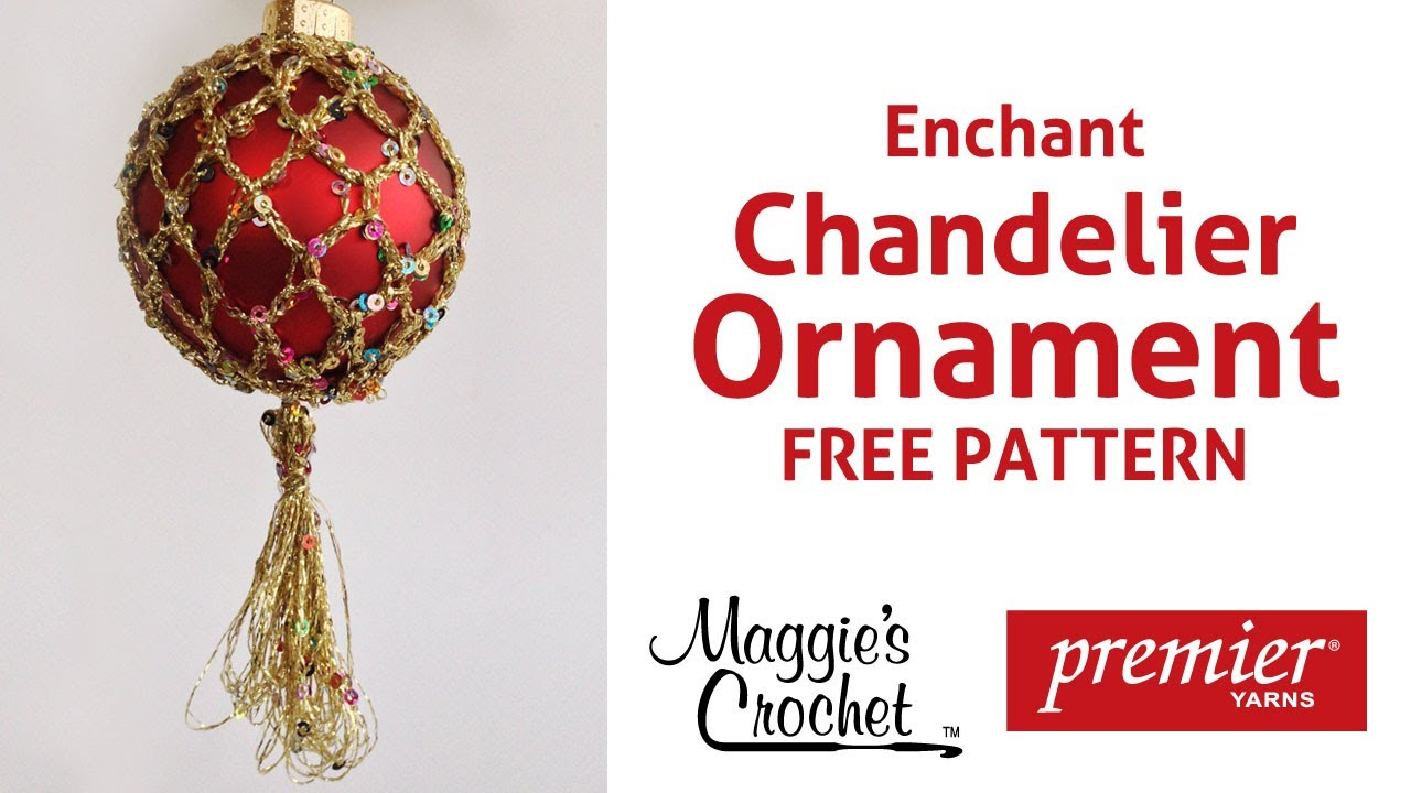 Enchant Christmas Ornament Free Crochet Pattern - Right Handed - YouTube