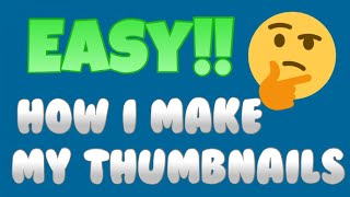 How to MAKE THUMBNAILS on IPHONE (easy)