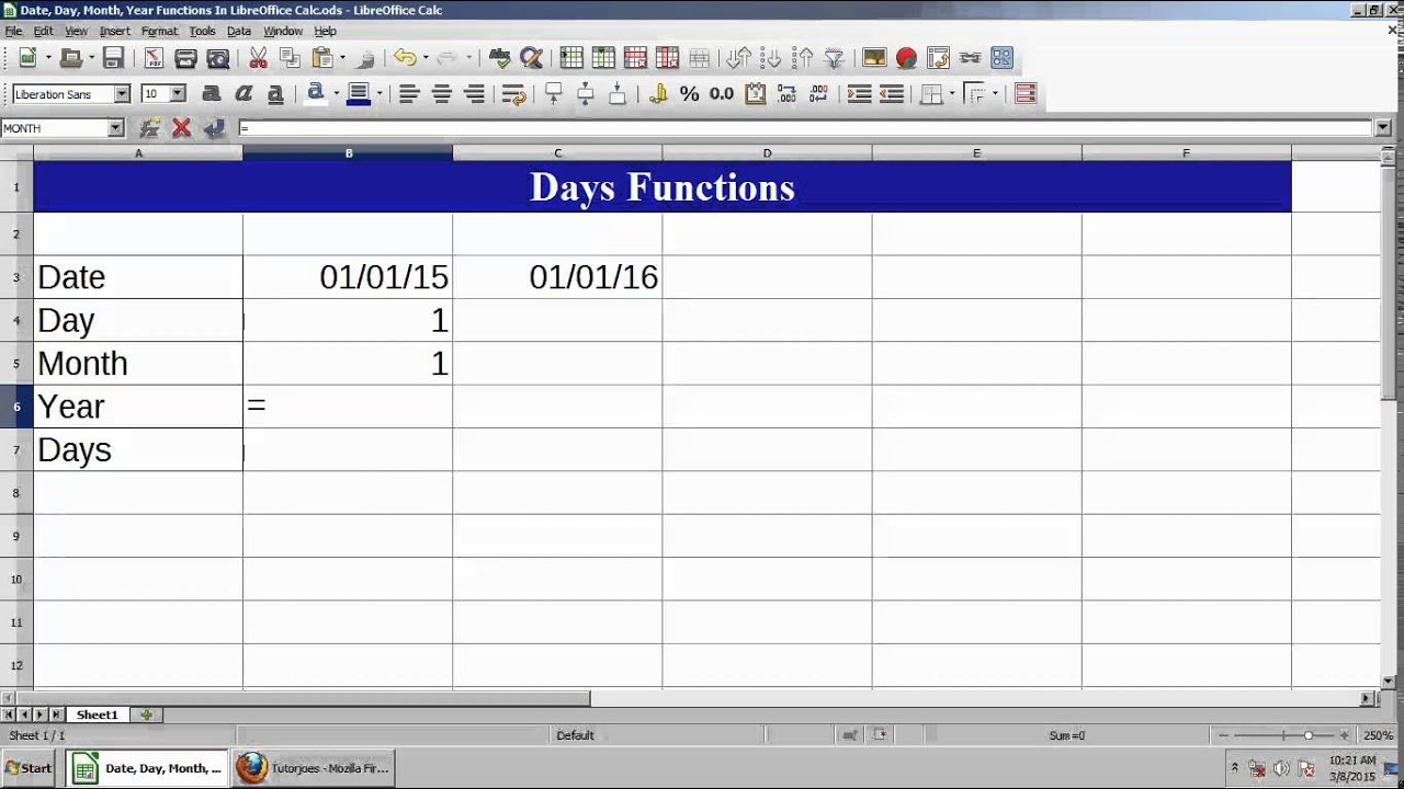 Libreoffice Calc Functions