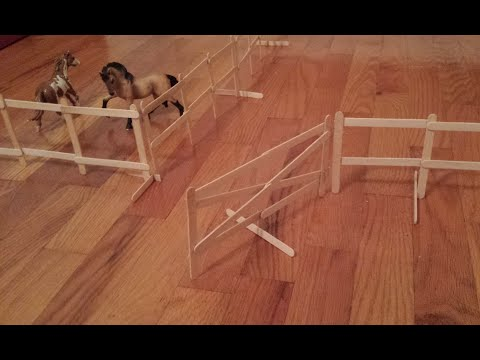 How To Make Schleich Breyer Freestanding Swinging Fence