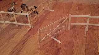 How To Make Schleich / Breyer Freestanding Swinging Fence Gate.