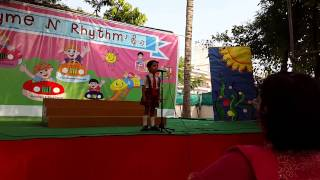 Ishaan Barve poem at School function  - Age 4yrs 6 months
