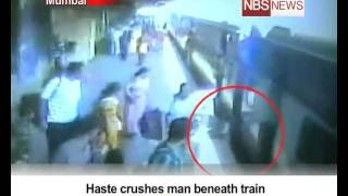 Repeat youtube video Haste crushes man beneath train