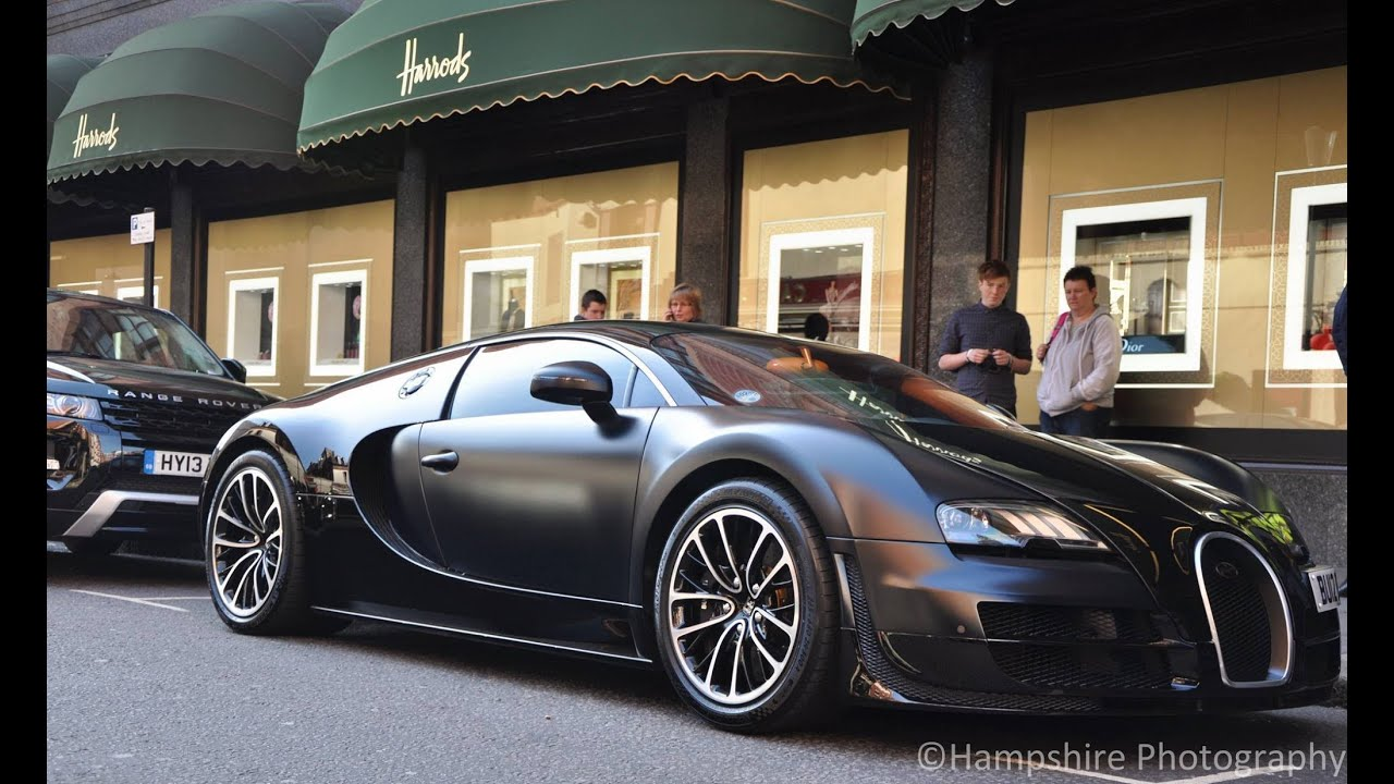 bugatti veyron supersport 39 sang noir 39 in london walkaround driving scenes and accelerations. Black Bedroom Furniture Sets. Home Design Ideas