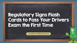 Regulatory Signs Flash Cards to Pass Your Drivers Exam the First Time