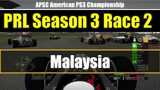 F1 2013 -Online League Race- PRL-APSC Season3 Race2 Malaysia Highights