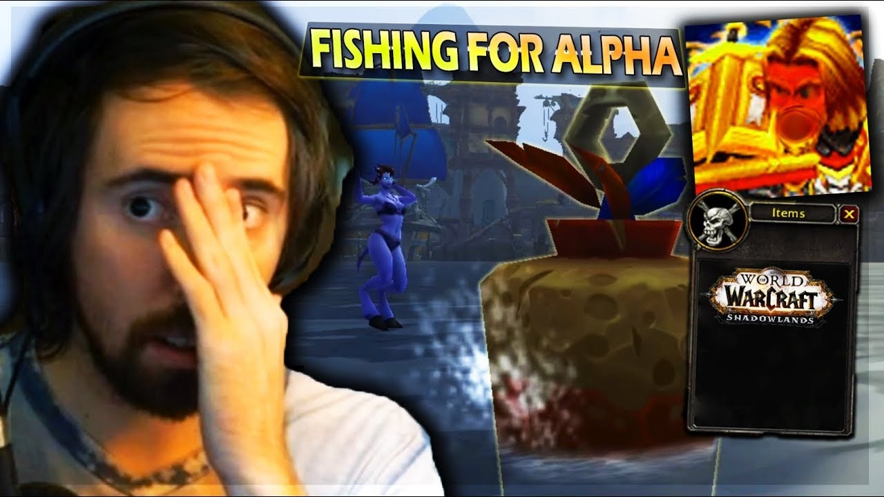 Asmongold CONCERNED About MCCONNELL Going CRAZY FISHING For Shadowlands Alpha For 10 HOURS