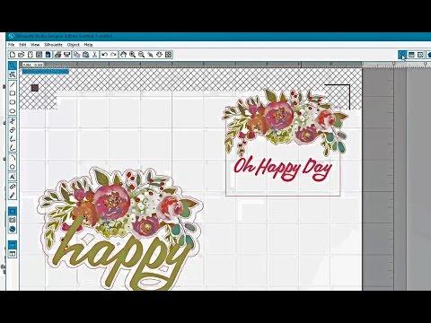 Silhouette Tutorial Using Printable Artwork to Make Planner Labels