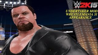 WWE 2K15 PC Glitch: Undertaker Wrestlemania 31 updated new look/appearance with short hair & attire!