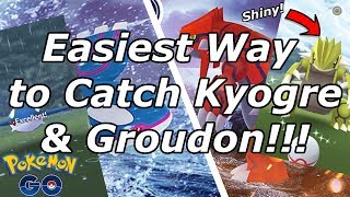Easiest Way to Catch Kyogre & Groudon in Pokemon Go!!!