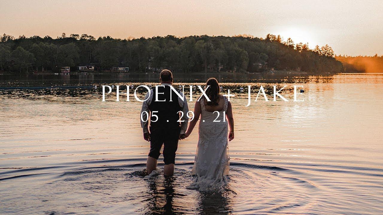 Romantic Canadian lakeside lodge wedding. Emotional Vows. Phoenix & Jake - Sony A7Siii