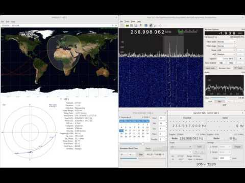 LES-1 Satellite, 11.09.2016 (stabilised, doppler-shift-compensated)