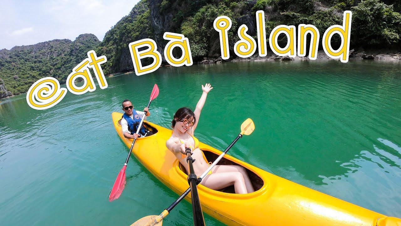 Nhảy vịnh Lan Hạ đảo Cát Bà cùng với cô gái nóng bỏng để xua tan cái nóng mùa hè