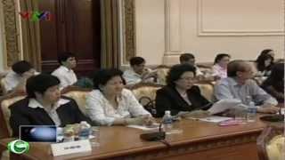 Ông Lê Thanh Hải làm việc với Đoàn công tác Chính phủ tại TP.HCM
