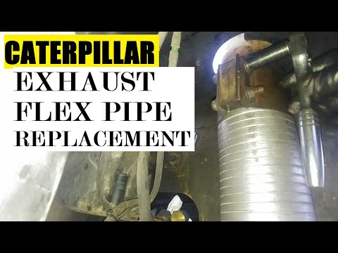 CATERPILLAR Exhaust Flex Pipe Assembly Replacement. Any Equipment Or Heavy Truck Exhaust Repair.