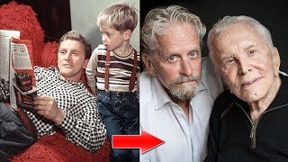 Micheal Douglas And Kirk Douglas Transformation From 1946 To 2018