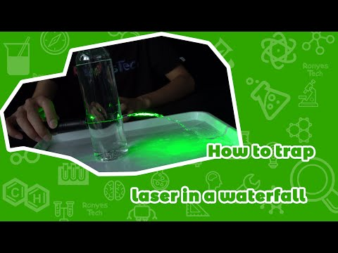 How To Trap Laser In A Waterfall?